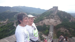 Beijing Biddies on Great Wall of China