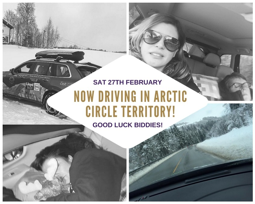 Beijing Biddies now driving in arctic circle territory! (1)