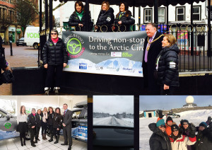 Beijing Biddies welcome home with Mayor and Lloyds Volvo Carlisle Monday 7 March 2016